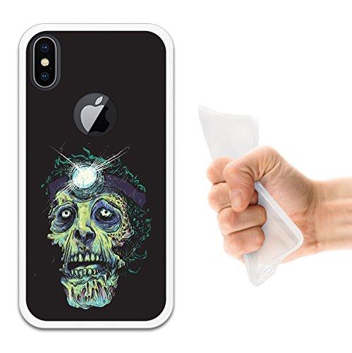 iPhone X Hülle, WoowCase Handyhülle Silikon für [ iPhone X ] Zombie Handytasche Handy Cover Case Schutzhülle Flexible TPU - Schwarz Housse Gel iPhone X Transparent D0255