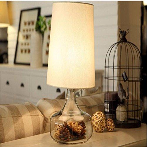 KHSKX Einfache und kreative Mode Nordic Glaslampe, Schlafzimmer Lampe, Nachttischlampe, moderne Hochzeitshotel Beleuchtung,C
