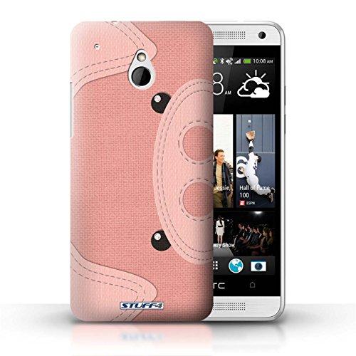 Kobalt® Imprimé Etui / Coque pour HTC One/1 Mini / Cochon conception / Série Cousu des Animaux Effet Cochon