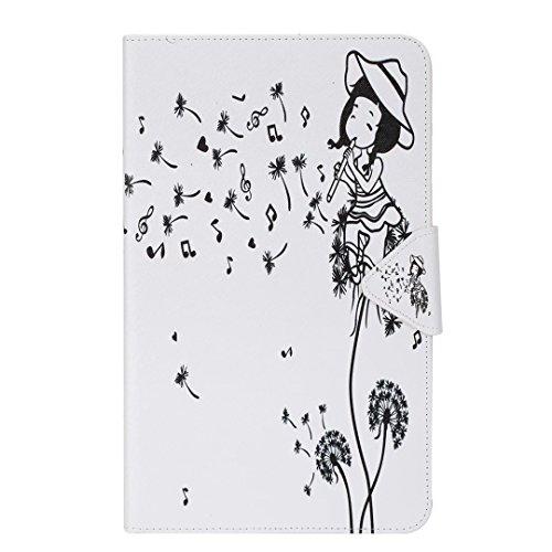 Vandot Smart Housse Case Coque étui pour Samsung Galaxy Tab A 2016 10.1 T580 T585 (A6) Tablette Coque avec Support et fermeture magnétique et Carte Slots Ultra Slim Léger Smart Cover Case Flip étui en Tablet-musique