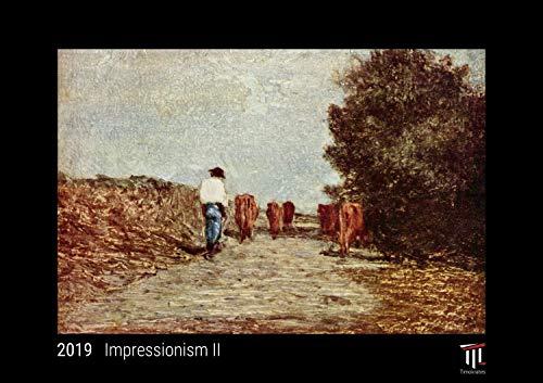 Impressionism II 2019 - Black Edition - Timocrates wall calendar, picture calendar, photo calendar - DIN A4 (30 x 21 cm)