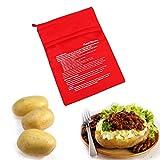 iTimo Waschbare Herdbeutel, mikrowellengeeignet, zum Backen von Kartoffeln und Reis, schnell und schnell