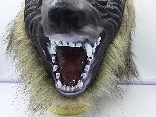 AWLLY Umweltfreundliche Halloween Latex Werwolf Maske Und Handschuhe Wolfman Claw Pfoten Party Kostüme Requisiten Für Erwachsene Unisex Tier ()