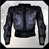 Unisex Outdoor Adventure Cycling Street Motorcycle Motorcross Skating Body Armour Protector ERQI001 Black