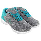 Briix Women Mesh Sports Shoes for Running Walking Training and Gym in Grey and Green Color