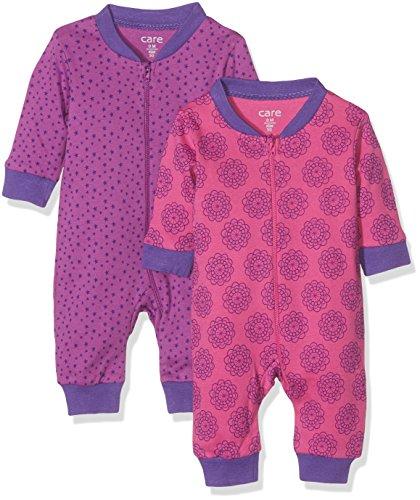 Care Baby-Mädchen Schlafstrampler Anka1, 2er Pack, Rosa (Rose Pink 555), 62