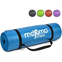 Maximo Exercise Mat - Premium Quality NBR Fitness Mat - Multi Purpose - 183cm Length x 60cm Width x 1.2cm Thick - Perfect for Yoga, Pilates, Sit-Ups, Stretching, Home, Gym