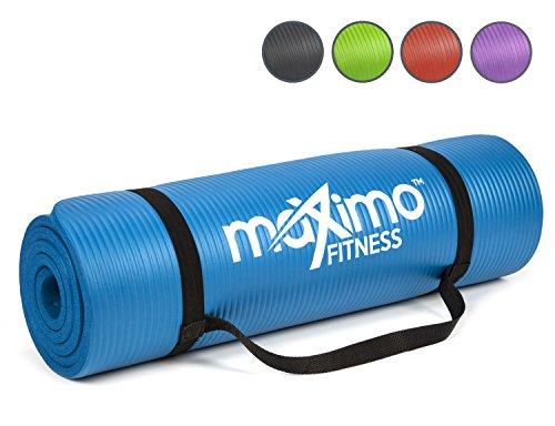tappetino per esercizio fisico - tappetino fitness nbr di alta qualità - lunghezza 183 cm x larghezza 60 cm x spessore 1.2 cm, multiuso - perfetto per yoga e pilates