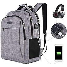 c28e289701 KAQA Zaino USB Esterno/Borsa Per Studenti/Zaino Per Computer Da Viaggio  Aziendale Da