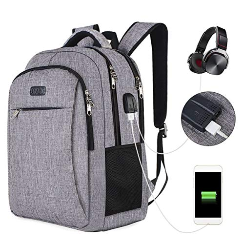 Kaqa zaino usb esterno/borsa per studenti/zaino per computer da viaggio aziendale da uomo casual