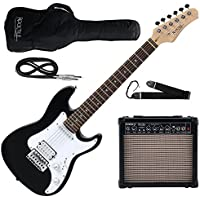 Rocktile Sphere Junior E-Gitarre 3/4 Schwarz SET inkl. Verstärker, Kabel und Gurt