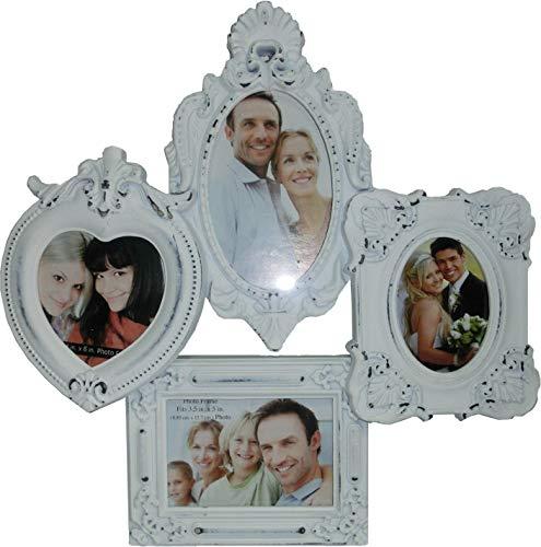 MARCO AMOR blanca pared del marco marco marco de fotos barroco mal estado del corazón del collage