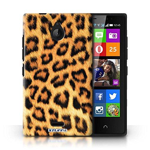 Kobalt® Imprimé Etui / Coque pour Nokia X2 Dual Sim / Rose conception / Série Peau de Léopard Animal Jaune