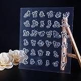 calistouk mariposa encaje letras imagen transparente sello de goma DIY álbum artesanía scrapbooking decoración