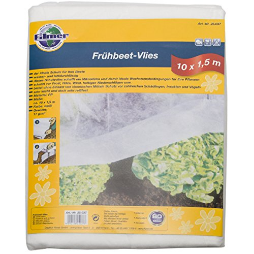 Filmer 2052053 Polaire Châssis Froid Blanc 10 x 1,5 m