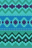 Journal: Blue Aztec Indian Blanket Western 6x9 Lined Journal Notebook 200 Pages
