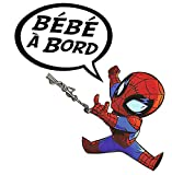 Baby Spiderman, Sticker bebé a Bordo, Bébé à Bord ! Alt 11 cm