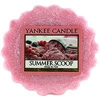 Yankee Candle Summer Scoop Tart da Fondere, Cera, Rosa, 6 x 6 x 2 cm