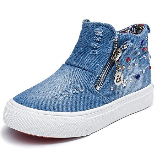 Alexis Leroy Nouvelle Collection - Chaussures marche Baskets mode Hautes Garçon Bleu Clair