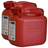 2er Set: 2x Benzinkanister 5 Liter in Rot mit UN-Zulassung Made in Germany
