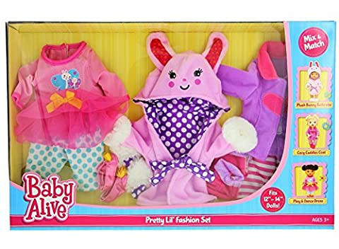 Baby Alive Pretty Lil Fashion Clothing Set – Features 3