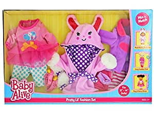 Baby Alive Pretty Lil Fashion Clothing Set Features 3