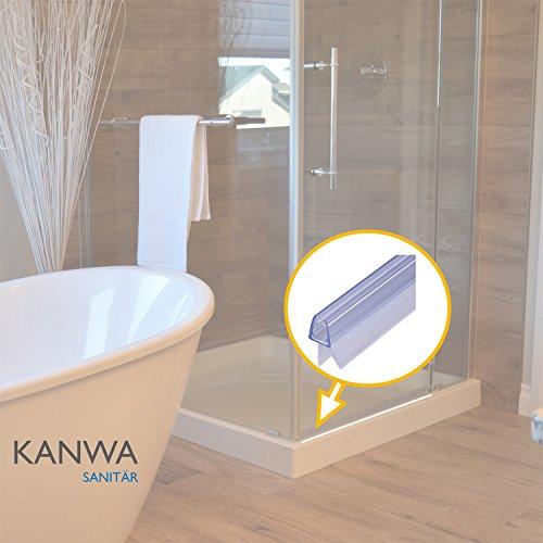 Duschdichtung 100cm für die Duschkabine 6mm - 7mm - 8mm Glasdicke der Duschtür , Duschleiste zum abdichten als Ersatzdichtung 1 Meter mit Zwei Dichtlippen