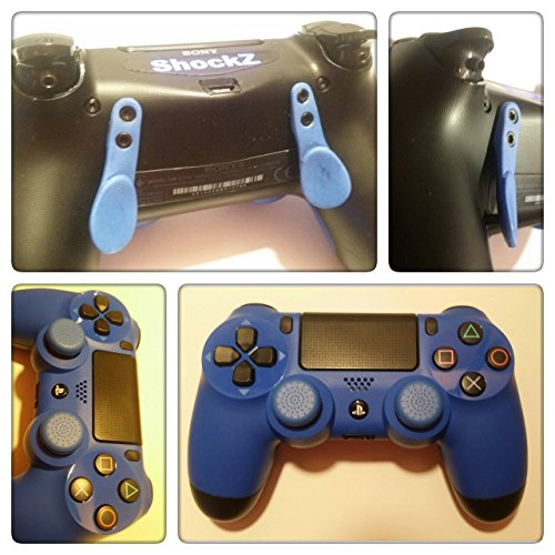 PS4 Controller - ShockZ Controller Umbau - Triggerstop - X&O Buttons - Paddel - Playstation 4 - Blau