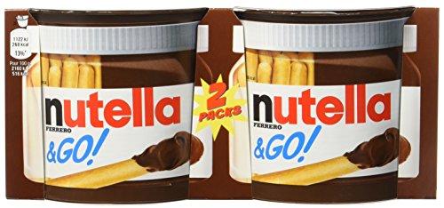 Nutella Bâtonnets Céréaliers et Pâte à Tartiner aux Noisettes et au Cacao 2 x 13 g - Lot de 4