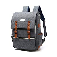 Backpack Puersit 15.6 Inch Laptop Backpack Durable Business College Daypacks (Gray)