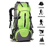 ultrashang Abfalltonne Bergsteigen Rucksack, Trekking Rucksack mit Regencape, für Camping Angeln Reise Klettern Bergsteigen Radfahren Skifahren Wandern (45+ 5L)
