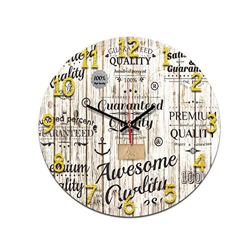 LUOYLYM Wohnzimmer Digitale Retro Wanduhr Acryl Stumm Startseite Kreative Mode Uhr Randlose Wecker P190430-150 28CM