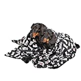 Utex Pet Blanket 140*170cm Warm, Soft, Plush, Microfiber Pet Blanket for Couch, Car, Trunk, Cage, Kennel, Dog House, Puppy Kitten Bed (Large, Hot Dog Bone)
