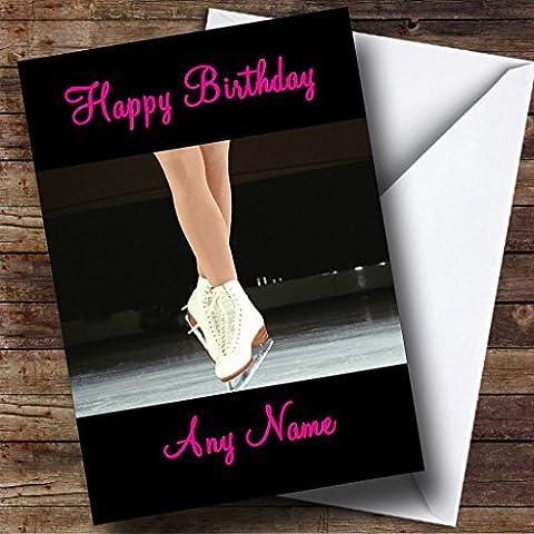 Ice Skating Personalised Birthday Card