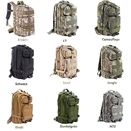 Sijueam US Assault Pack Small Rucksack ca. 25L(Minimum 8L) Jungle Farben
