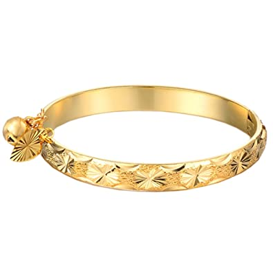 UM Jewellery Gold Plated New Born Baby Bracelet Bangle for Infant