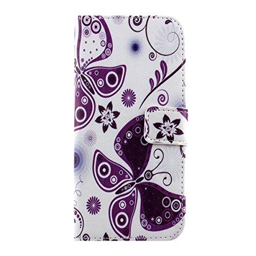 Ukayfe iphone 6 Copertura, Serie di Natale Custodia Ultra Slim Morbido TPU Gel Silicone Protettivo Skin Protettiva Shell Case Cover per Apple iPhone 6/6S (4.7 pollice ) Con Stilo Penna - Bianco neve farfalla#2