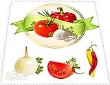 Designer Mikrofaser Brillen Putztuch Brillentücher Comic Tomate Abendessen Gesund schönes Design schick NEU 100DBPZ2176