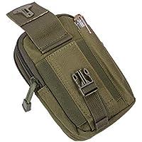 9cec1b7ab260e QEES Multifunktionaler Taillenbeutel im Stil von Militär Bauchtasche Herren  Hüfttasche Wasserdicht Mit Gürtel Wandern Camping Laufen