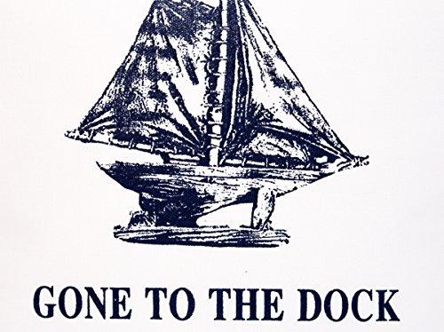Kissenbezug Anniek 40x40cm Kissenhülle maritim Segelschiff vintage gone to the Dock Sommer Streifen blau weiß gestreift Leinen Leinenoptik Dekokissen -