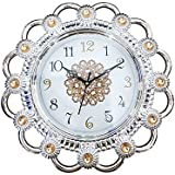 Majik Designer Wall Clocks For Living Room Fancy, Silver, 30 Gram, Pack Of 1