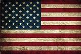 Länder Fahne - USA - National Flagge United States of America / Amerika schild aus blech, , retro