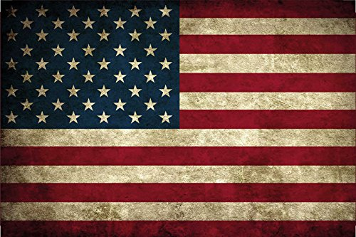 Länder Fahne - USA - National Flagge United States of America / Amerika blechschild, dekoschild, retro (Usa-flagge Dekorationen)