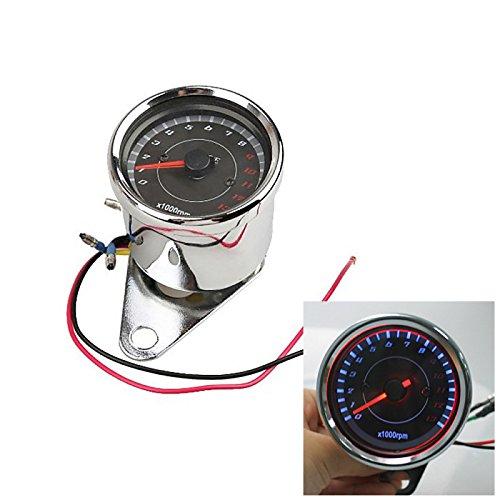 tianxiaw- Motorrad-Geschwindigkeitsmesser Tachometer Kilometerzähler Drehzahlmesser 0 bis 13.000 RPM
