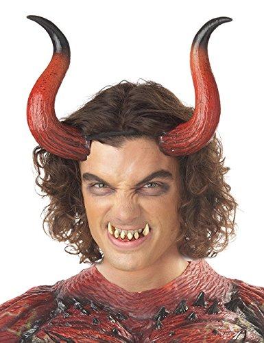 Dämon Hörner rot mit Zähnen (Kostüm Satyr)