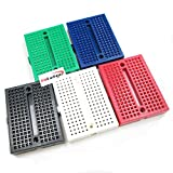 HiLetgo 5pcs SYB-170 Mini Breadboard Colorful Breadboard Small Plates [Office Product]
