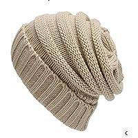 Sombrero Caliente de Punto Gorra para Invierno color crudo