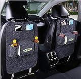 EggshellHome Car Storage Schienale Car Storage Blanket Back Bag Clean Pocket Pieghevole antiscivolo Car Storage Bag Sedile posteriore,Gray2pcs