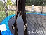 Trampolin mit Sicherheitsnetz, inklusive Leiter und Randabdeckung Gartentrampolin 250, 305, 370, 400, 430cm (12FT / 370cm) - 4
