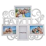 PrimoLiving Family Bildergalerie für 4 Bilder in 3D Optik Bilderrahmen in Weiß P-398